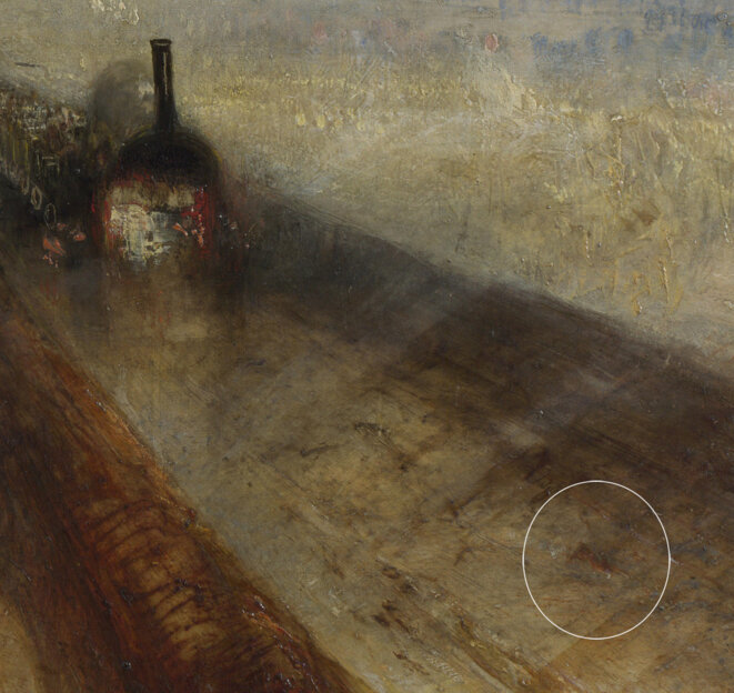 Pluie, vapeur et vitesse (détail), Joseph Mallord William Turner.