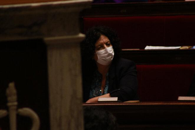 La ministre Frédérique Vidal, à l'Assemblée nationale, le 2 mars 2021. © Quentin De Groeve / Hans Lucas via AFP