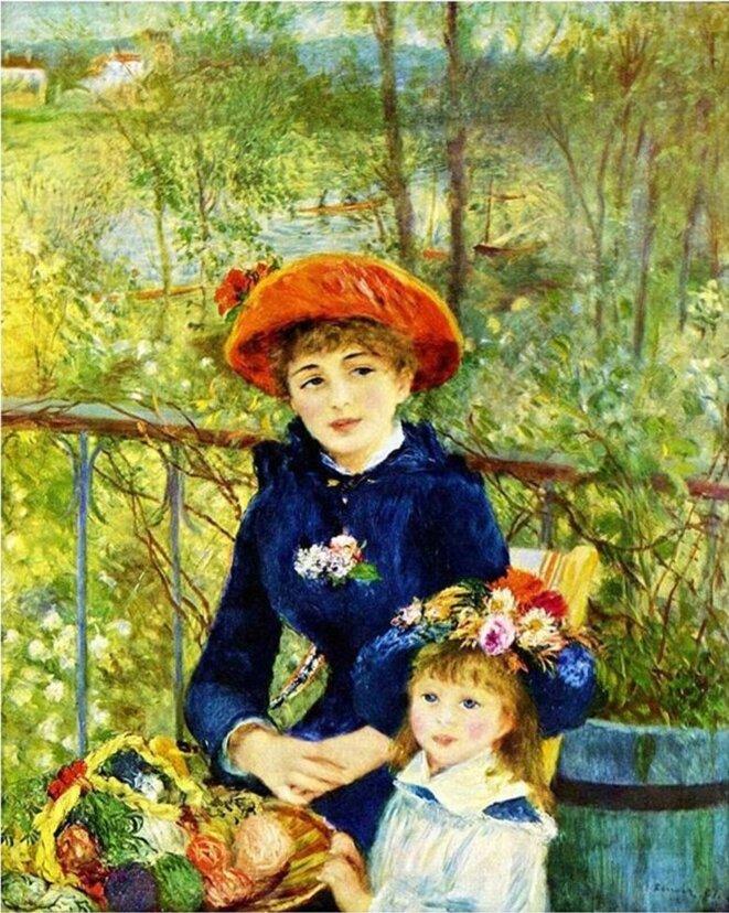 Renoir, Sur la Terrasse (1881).