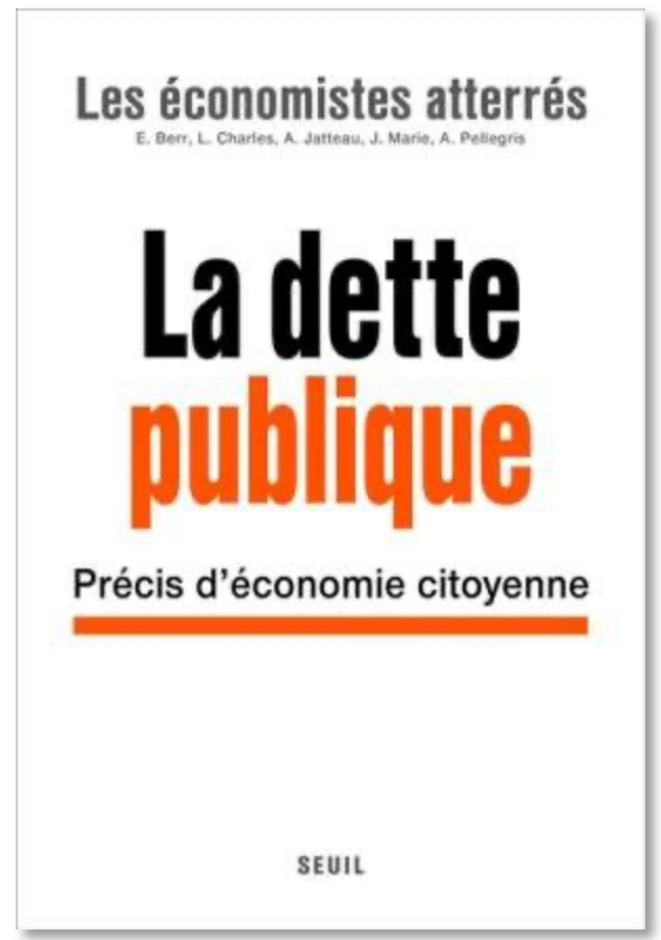 """Couverture du livre """"Dette publique. Précis d'économie citoyenne"""""""