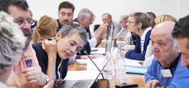 Les travaux de la convention citoyenne sur le climat. © Site de la CCC