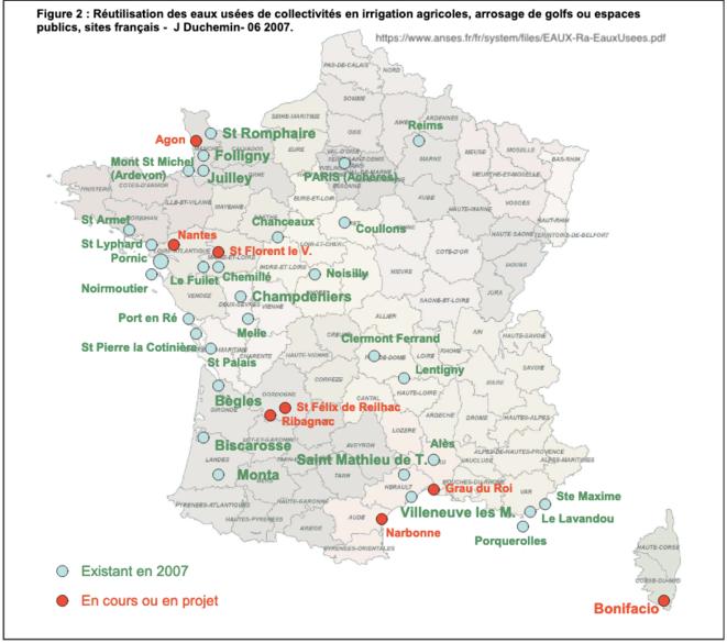 20070601 Réutilisation des eaux usées de collectivités en irrigation agricoles, arrosage de golfs ou espaces  publics, sites français -  J Duchemin © ANSES