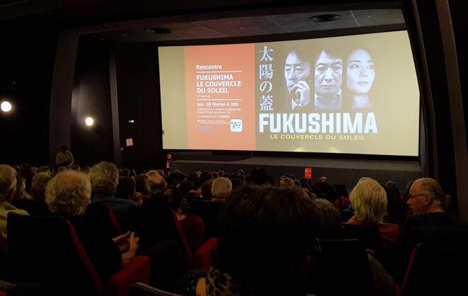 Conférence-débat de Naoto KAN avec la CRIIRAD au cinéma Le Navire de Valence, le 18 février 2019 © Jean-Lucien Hardy