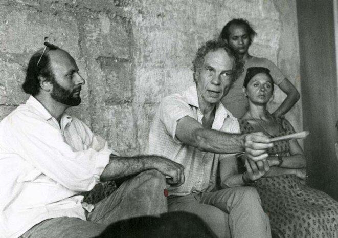 Bernard Tournois avec Merce Cunningham et Amélie Grand