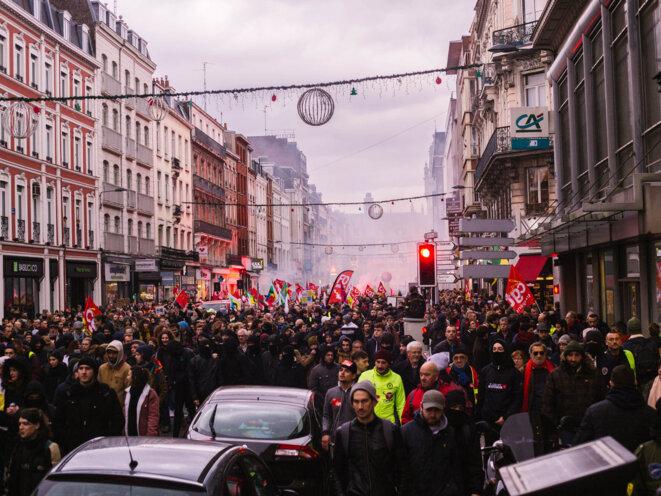 Grève générale 2019 Lille © Louis Delbarre/ Hans Lucas