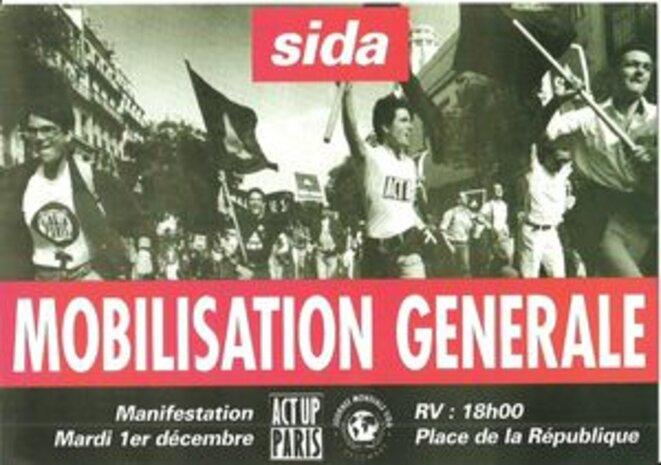 Affichiche d'appel à la manifestation du 1er décembre 1992