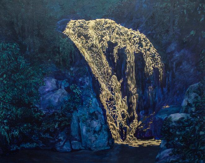"""Bruno Gadenne, """"Air terjun emas (la cascade d'or)"""", 2015"""