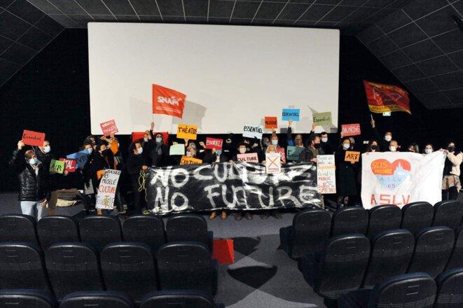 Le cinéma Mélies occupé © Mouvement des artistes et des techniciens