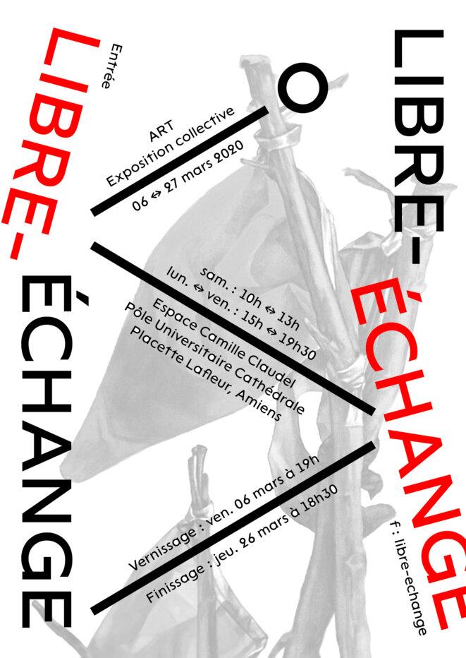 Exposition Libre-échange, graphisme : Marjorie Ober, Nicolas Chesnais, crédit image : Olivia Etienne