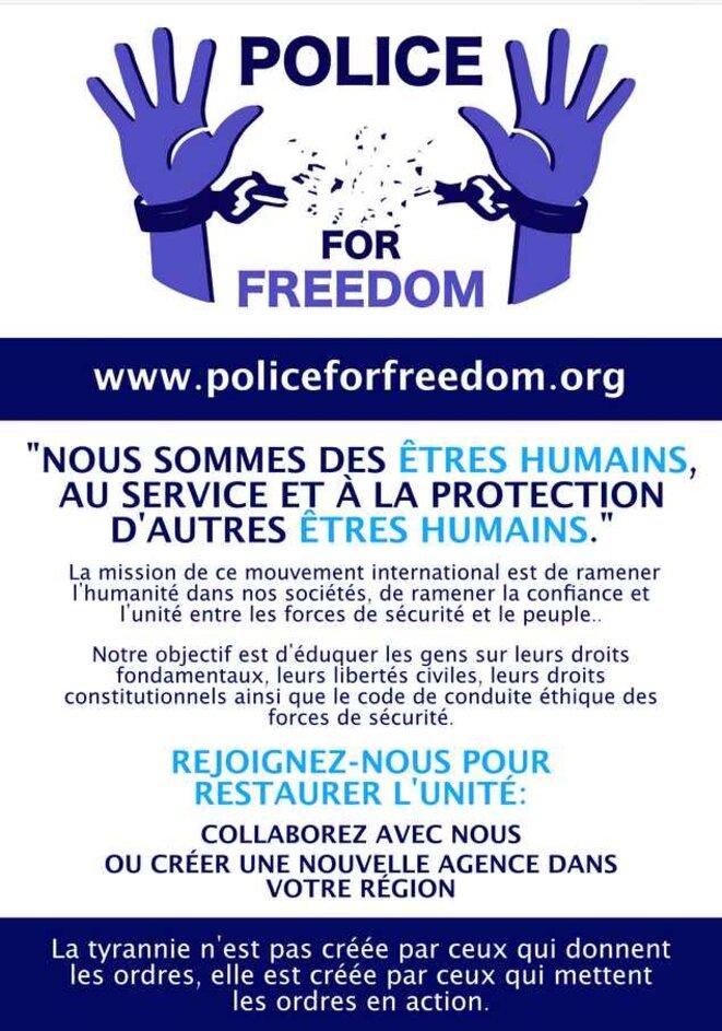 Affice policiers pour la liberté à transmettre autour de soi © Police for Freedom