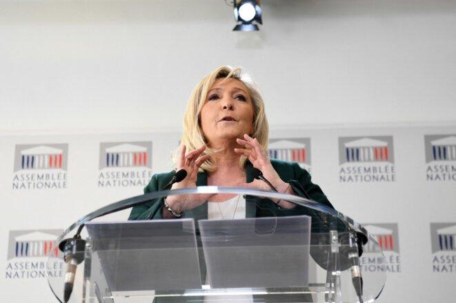 Marine Le Pen à l'Assemblée nationale. © Alain Jocard / AFP