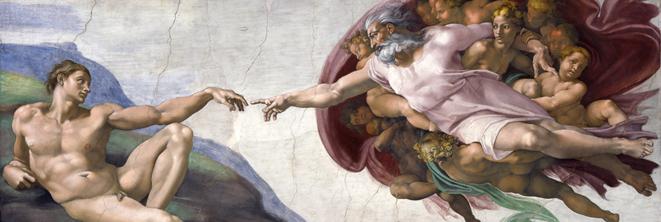 La Création d'Adam par Michel-Ange, Chapelle Sixtine © Musei Vaticani