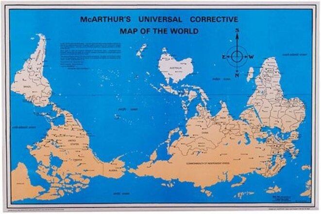 Le planisphère inversé de McArthur