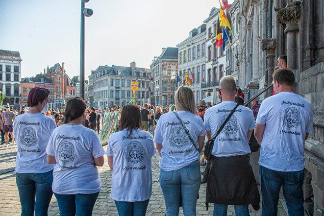 Rassemblement pour les droits de tous à Mons © Dominique Botte
