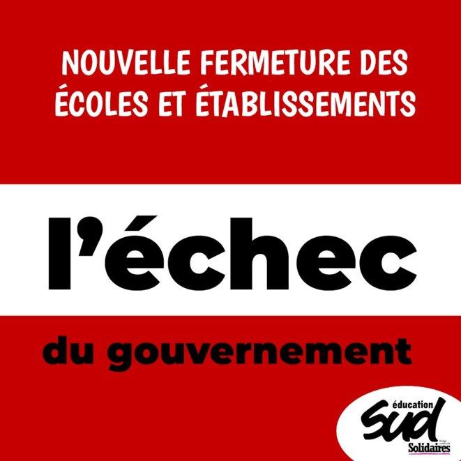 L'échec du gouvernement © SUD éducation