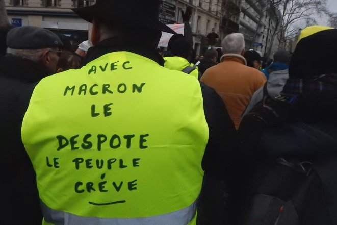 Marche blanche des gueules cassées, Acte XII des Gilets jaunes / Paris, samedi 2 février 2019 © Antoine Peillon + Ishta