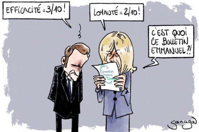 Macron et le climat : 3,3 sur 10, selon la Convention citoyenne © Sanaga/Reporterre