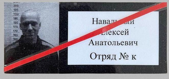 La carte de prisonnier de Navalny à la «colonie IK2» de Pokrosvk. © (dr)