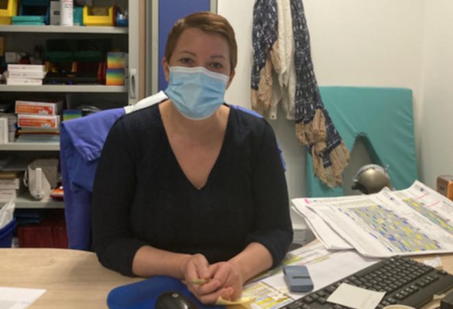 Neilla Laurent dans son bureau de l'Hôpital St-Louis. © JC