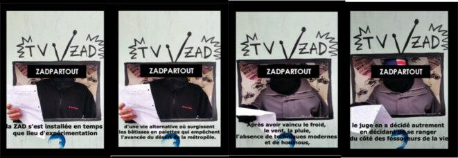 Captures d'écran de la TéléZAD