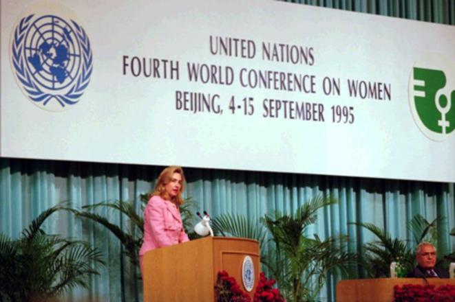 Forum de Pékin- Mme Hillary Diane Rodham-1re Dame USA