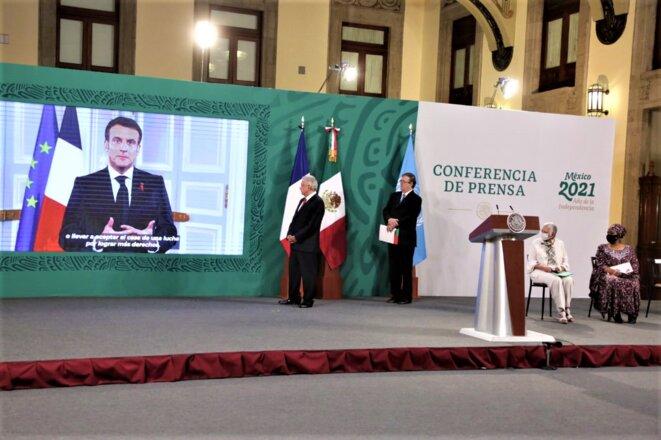 Mexico - Forum Génération Égalité - 29 – 31 mars 2021- Emanuel Macron, Président Français