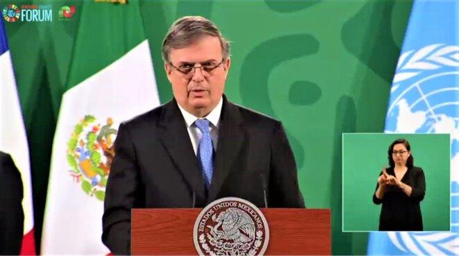 Mexico - Forum Génération Égalité (2021) - 29 – 31 mars - Marcelo Ebrard, Secrétaire des Relations extérieures du Mexique