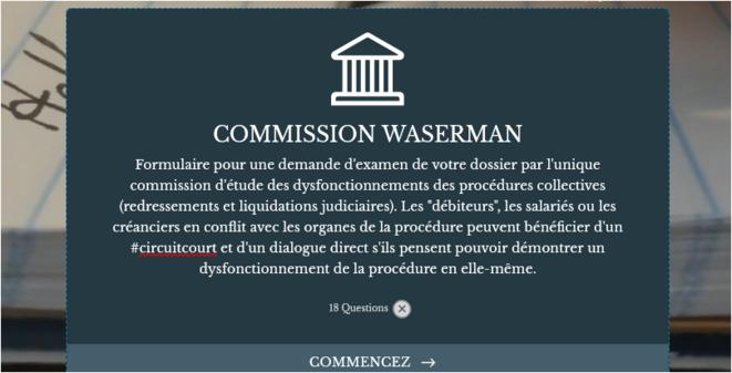 Comment saisir la Commission Waserman : formulaire en ligne © @OSDEI
