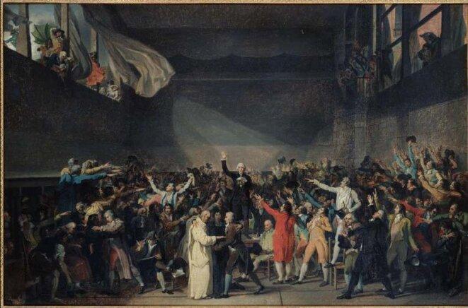 Association de malfaiteurs en vue de commettre des dégradations et des violences sur les personnes dépositaires de l'autorité publique- 20juin 1789 © DC