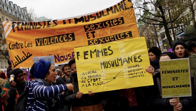 Manifestation contre les violences sexuelles et sexistes, à Paris, en 2018. © Rachida El Azzouzi