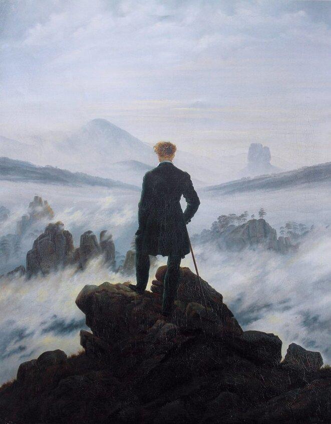 Voyageur contemplant une mer de nuages , Caspar David Friedrich (1817-1818). Œuvre pionnière du romantisme. © Caspard David Friedrich
