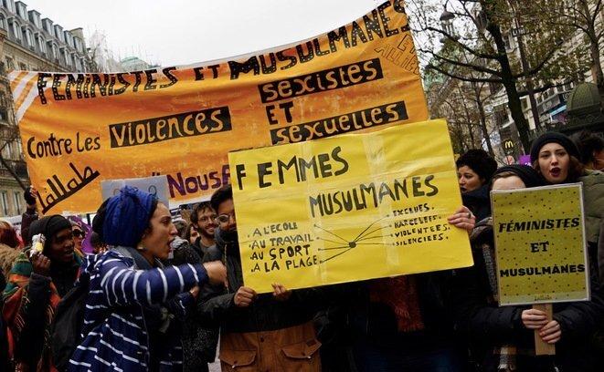 En la manifestación del 24 de noviembre de 2018, en París, contra la violencia sexual y de género. © Rachida El Azzouzi