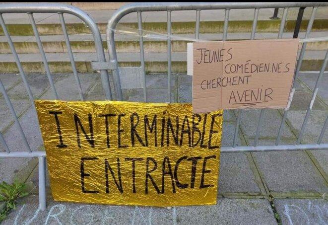 Place de l'Odéon, 7 Mars 2021 (Paris, 6è) © Camille