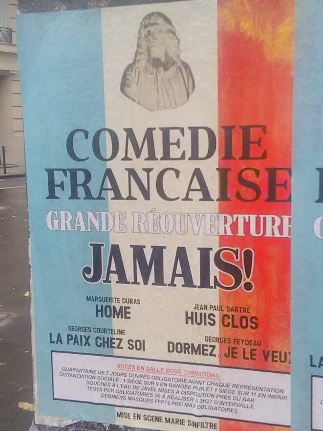 Boulevard des Italiens, 14 décembre 2020 (Paris, lisière des 2ᵉ et 9ᵉ arrondissements) © Joël Cramesnil