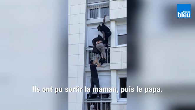Mohamed Zampou (tout en haut sur l'image) à La Bottière, le 28 mars 2021. (Capture d'écran)