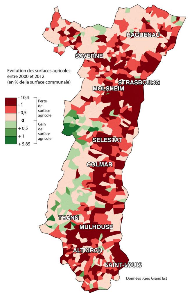 L'artificialisation des sols en Alsace reste importante selon le dernier bilan réalisé en 2018 (le prochain en 2021)