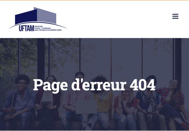 Bug sur la page dédiée aux frais d'inscription sur le site de l'université franco-tunisienne © Site de l'UFTAM