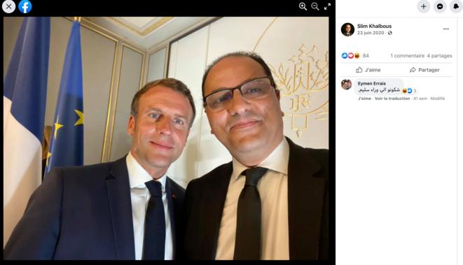 En juin 2020, le président de la République et le recteur de l'AUF posaient ensemble. © Facebook de Slim Khalbous
