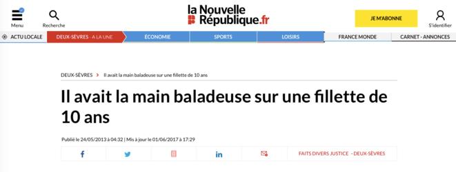 Article de La Nouvelle République, 24/05/2013