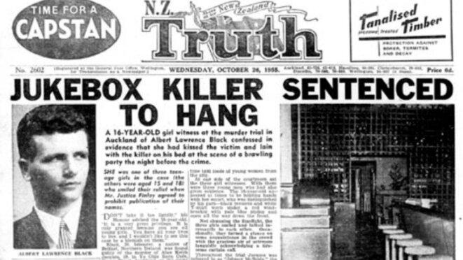 le compte rendu du procès et de l'exécution de Black paru dans Truth, sous la plume de Jack Young. Ce récit ébranla la conscience publique et contribua à l'abolition de la peine de mort en Nouvelle-Zélande en 1961