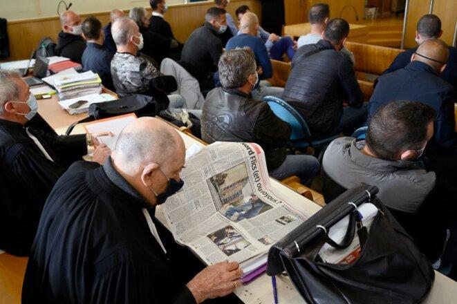Ouverture du procès, lundi 12 avril, devant le tribunal correctionnel de Marseille. © Nicolas Tucat/AFP.