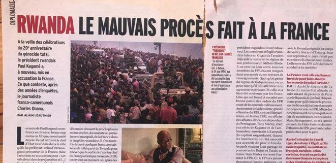 """Article d'Alain Léauthier dans """"Marianne"""" du 11 avril 2014 [arch. pers.]"""