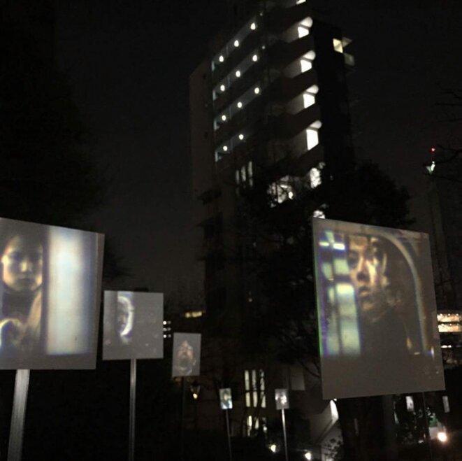 Guillaud Emmanuel, Sans titre (après le Piranèse), Installations vidéos, Institut français de Tokyo, 2017