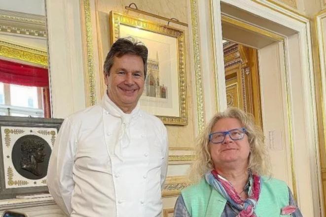 El chef Christophe Leroy y Pierre-Jean Chalençon fueron detenidos el viernes 9 de abril de 2021. © Instagram Christophe Leroy