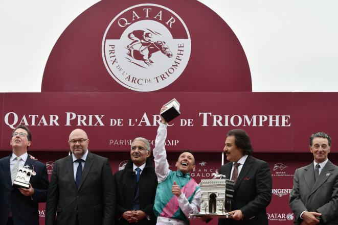 Qatar Prix de l'Arc de triomphe, 7 octobre 2018. © Philippe LOPEZ / AFP