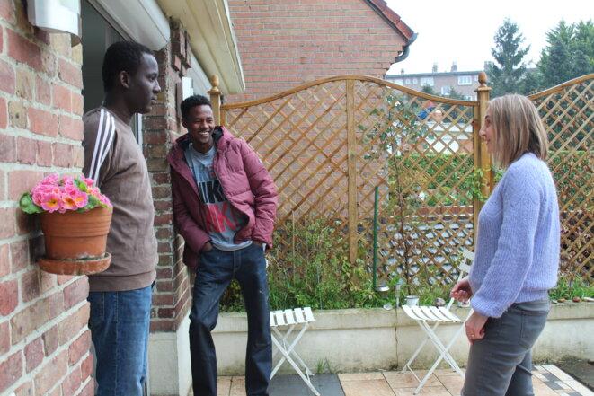 Mohammad et Ahmad ont passé le week-end chez Sophie et Bamba, fondateurs de Migraction59. © NB