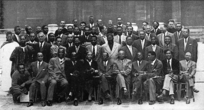 Participants in the first 'International congress of black writers and artists', held in Paris in 1956. © © Présence Africaine