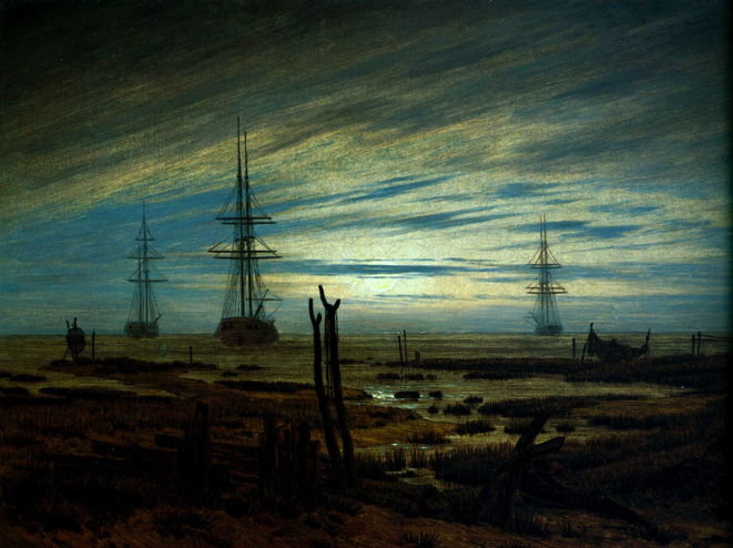 caspar-david-friedrich-ships-at-anchor ( before 1820 )