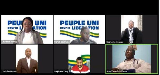 Jean Valentin LEYAMA – Membre d'une plateforme politique dirigée par la future candidate à l'élection présidentielle Laurence Mbango, épouse Ndong.