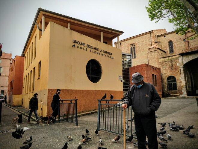 L'école La Miranda, dans le quartier Saint-Jacques, à Perpignan. © PB
